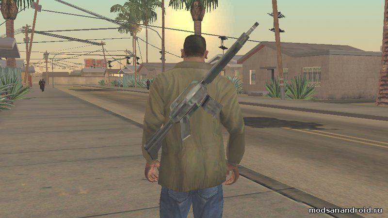 Оружие за спиной