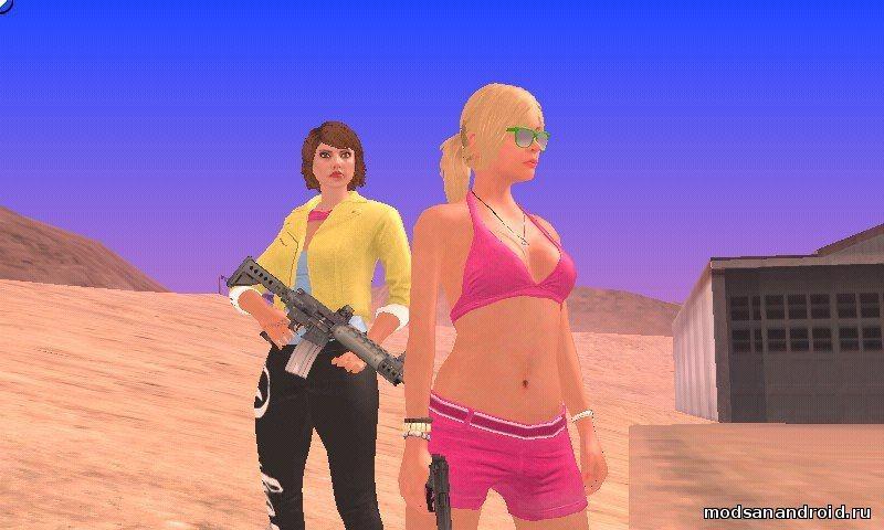 Скин девушки GTA ONLINE