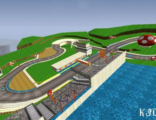 Трек из Mario Kart 7 (Nintendo 3DS)